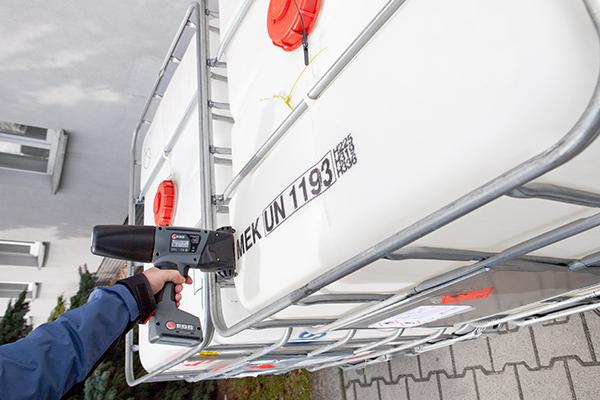 移动喷印 EBS塑料桶大字符手持喷码机